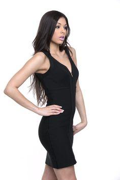 Zipper Me Down Bandage Dress – Girl On Girl #shopgirlongirl #style #fashion #dress #littleblackdress #bandagedress #shop #shopaholic #shopper #sexydress #sexy
