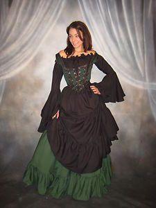 Q I Renaissance Medieval Gypsy Pirate Wench Costume Mythic Chemise Gown | eBay