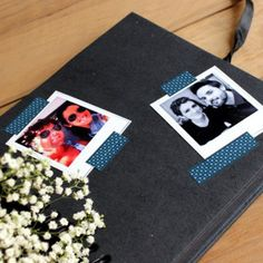 Libro de firmas efecto PIZARRA Polaroid Film, Cool, Ideas, Signature Book, Chalkboard, Manualidades, Thoughts