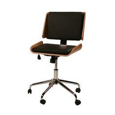 Retro Office Chair Walnut
