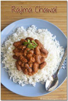 Rajma Chawal (Rajma Curry with Rice) - Easy Rajma Recipe - Sharmis Passions Vegetarian Rice Dishes, Best Vegetarian Recipes, Indian Food Recipes, Ethnic Recipes, Salt Biscuits Recipe, Biscuit Recipe, Rajma Recipe Easy, Cream Cheese Homemade, Indian Dishes