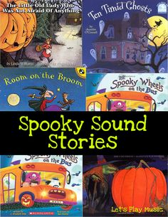 Spooky Sound Stories For Halloween - Let's Play Music Halloween Sounds, Halloween Music, Theme Halloween, Halloween Books, Halloween 2020, Easy Halloween, Kindergarten Music, Preschool Music, Music Activities