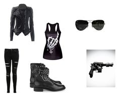"""""""Killjoy Outfit"""" by missnineintheafternoon on Polyvore featuring Ray-Ban, Miss Selfridge and Yves Saint Laurent"""