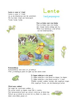 Liedjespagina: Lente Dutch Language, Spring Blossom, Music For Kids, Easter Crafts For Kids, Working With Children, Pre School, Early Childhood, Kids Learning, Montessori