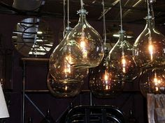 industrial bottle lights...