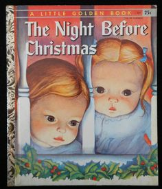 "Vintage Little Golden Book The Night Before Christmas (Eloise Wilkin) ""A"" ed. 