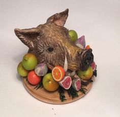 1/12TH Scale Boars Head With Fruits Tudor Royal Banquet