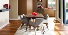 Linear proportions in solid American Black Walnut make the Seno table ideal for a wonderful dining experience. Gray Dining Chairs, Walnut Dining Table, Dining Table Design, Modern Dining Table, Dining Arm Chair, Extendable Dining Table, Round Dining Table, Living Room Chairs, A Table
