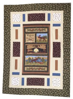 Moose Lake quilt kit featuring Moose Lake fabrics by Cheryl Haynes for Benartex Fabrics