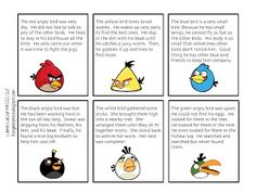 Free! Angry Birds main idea printables thanks to busybeespeech.