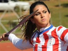 Javelin thrower Leryn Franco is a model athlete (Norberto Duarte / AFP - Getty Images)