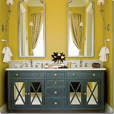 Yah that's mustard,... And it looks amazing with the cabinet color!!!