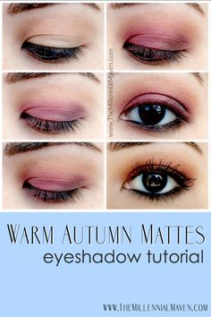 "Fall Makeup Tutorial -- ""Warm Autumn Mattes"" Achieve this Makeup look with your makeup kit or favorite eyeshadow palette."