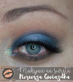 makijaż na święta w niebieskich odcieniach zoom Eyeliner, Eye Liner, Eyeliner Pencil