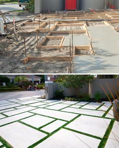 A #howitsmade look at the fabrication and completion of a custom concrete modular driveway