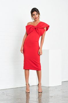 """""""Raphelite"""" red bow dress from 8thsign"""