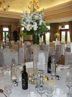 Tall wedding table centre