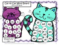 FREEBIE - This Short a CVC Board Game from Games 4 Learning can be a game for 2 players or can be used for teacher directed activities.