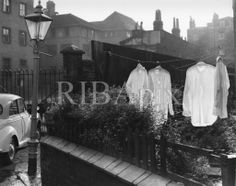 There had to be an Edwin Smith and this has been my absolute favourite, and computer wallpaper, since I joined the photographs collection 5 years ago. There's something so poignant, and poetic, about those translucent shirts. JS. (Back-street garden, Camden Town, London, photographed by Edwin Smith in 1960) [RIBA42439]