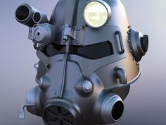 Fallout 3 - T45-d Power Armour Helmet by lilykill - Thingiverse