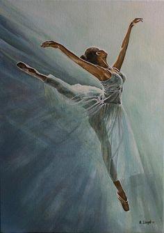 Swoop, by Andy Lloyd, acrylic on canvas, x May 2015 Ballerina Painting, Ballerina Art, Ballet Art, Ballet Dancers, Ballet Drawings, Dancing Drawings, Art Drawings, Dance Paintings, Ballet Photography