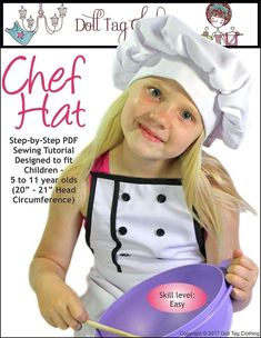 Free Sewing Pattern: Children's Chef Hat