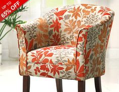 Welcome the changing seasons to your home with autumn-inspired hues and decor that feels fresh for fall. Slide in an earth-toned slipper chair or renew your sofas with leaf-printed accent pillows and cozy throws in burnt oranges, golds, and rich browns. For a quick fix, try a faux floral bouquet or a harvest hue wreath.