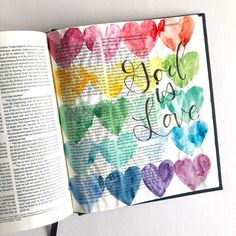 Bible Journaling With Me- Watercolor Hearts - Scribbling Grace