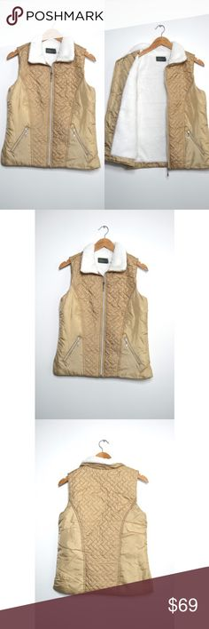 Sherpa Lined Vest Sooooo soft!! This vest is beautiful and seriously so soft  No trades. No low ball offers. Jackets & Coats Vests