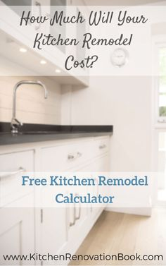 how much to remodel a kitchen calculator