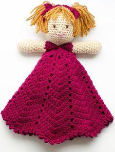 Meet Emily, a sweet Lovey crochet pattern. Pretty as a Princess!