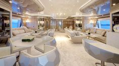 """""""Interior furnishing from the Fendi house. Interior design of Stefano Natucci. m MY Lady Lara by Private Jet Interior, Yacht Interior, Mansion Interior, Interior Design, Benetti Yachts, Luxury Yachts, Yacht Design, Super Yachts, Yacht Club"""