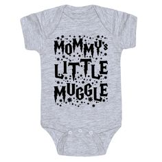 Mommy's little Muggle Harry Potter Cute Funny Baby Onesie