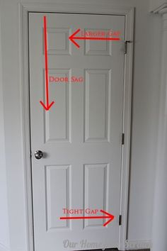 fix a sagging door in 5 minutes flat, doors, home maintenance repairs