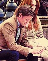 """""""She was off-camera, but she sat next to him and read her letter to him during this scene, quietly, so it would be real."""" <3 Poor Matt (.gif!)"""