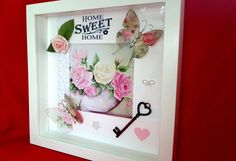 Personalised Shabby chic wall art decor framed by CloudedMeadow