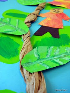 good for fairy tale theme as well Jack and the Beanstalk craft idea