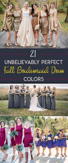 21 Unexpectedly Perfect Fall Bridesmaid Dress Colors