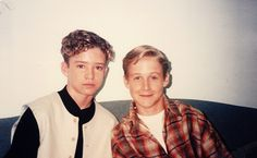 Handsome fellows to be: Justin Timberlake and Ryan Gosling - 1994