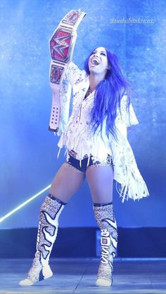 Wrestling Divas, Women's Wrestling, Wwe Raw Women, Wwe Outfits, Wwe Sasha Banks, Wwe Female Wrestlers, Wwe Girls, Raw Women's Champion, Wwe Womens