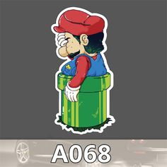 A-068 Personality Mario Waterproof Stickers Slide Rod Motorcycle Single Box Paste Cartoon Stickers Graffiti♦️ SMS - F A S H I O N 💢👉🏿 http://www.sms.hr/products/a-068-personality-mario-waterproof-stickers-slide-rod-motorcycle-single-box-paste-cartoon-stickers-graffiti/ US $0.36
