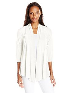 Women's Shrug Sweaters - AGB Womens Slub Cozy Cardigan Sweater -- Check this awesome product by going to the link at the image.