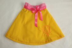 Skater skirt summer skirt yellow skirt girls skirt baby
