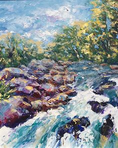 Raging River, oil on canvas - sold