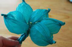 Como fazer flor de papel de seda - PAP