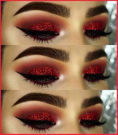Sparkle Eyeshadow, Eyeshadow Looks, Eyeshadow Makeup, Eyeshadow Tips, Glitter Eyeshadow, Makeup Brushes, Christmas Makeup Look, Holiday Makeup Looks, Weihnachten Make-up