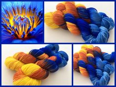 Fire in the Sky. Witch Candy Yarn colorway.