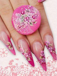 Clear Nail Designs, Fingernail Designs, Toe Nail Designs, Fabulous Nails, Gorgeous Nails, Pretty Nails, Rhinestone Nails, Bling Nails, Almond Nails Designs Summer