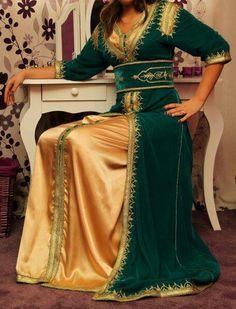 #kaftan #caftan #green #gold