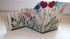 Hochzeitskarte mit Stampin up und Memorx box Produkten